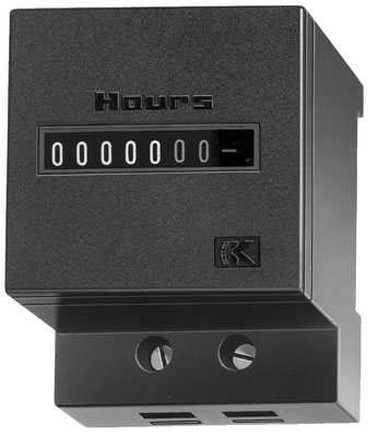 HOUR METER, DIN RAIL MOUNT, NON RESETTABLE, AH57
