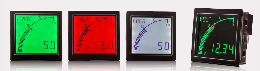 ADVANCED PANEL METER PROVIDES INSTANT VISUAL FEEDBACK - CURRENT, VOLTAGE, FREQUENCY PROCESS METER